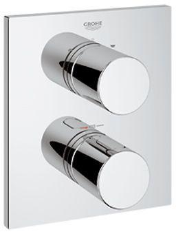 Grohe Grohtherm-3000 Cosmopolitan afbouwdeel voor inbouw badkraan thermostatisch m. omstel rechthoek