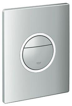 Grohe Nova Cosmopolitan light WC bedieningsplaat DF 230V 156x197mm verticaal/horizontaal m. led verl