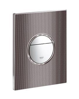 Grohe Nova Cosmopolitan WC bedieningsplaat DF 156x197mm optische bedrukking zwart