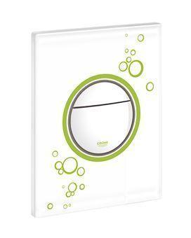 Grohe Nova Cosmopolitan WC bedieningsplaat DF met circels 156x197mm eco groen