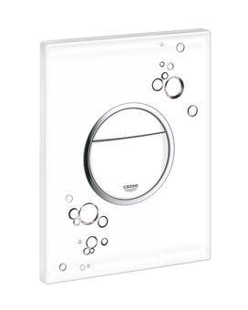 Grohe Nova Cosmopolitan WC bedieningsplaat DF met circels 156x197mm wit