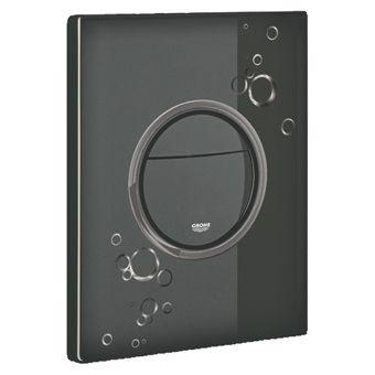 Grohe Nova Cosmopolitan WC bedieningsplaat DF met circels 156x197mm zwart