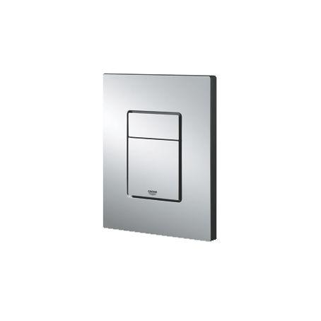 Grohe Skate Cosmopolitan WC bedieningsplaat DF 156x197mm verticaal/horizontaal RVS