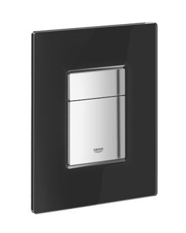 Grohe Skate Cosmopolitan WC bedieningsplaat glas DF 156x197mm verticaal/horizontaal niet v. Grohe Fresh zwart
