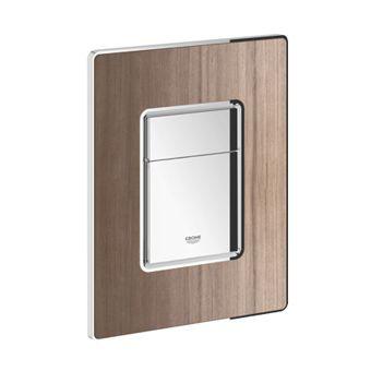 Grohe Skate Cosmopolitan WC bedieningsplaat hout DF 156x197mm verticaal/horizontaal niet v. Grohe Fr