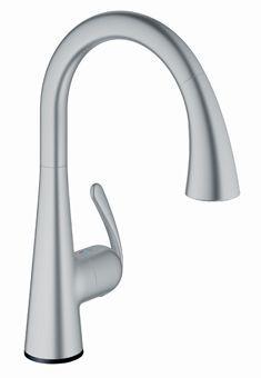 Grohe Zedra Touch elektronische keukenkraan m. draaibare C-uitloop en uittrekbare handdouche m. 6V l