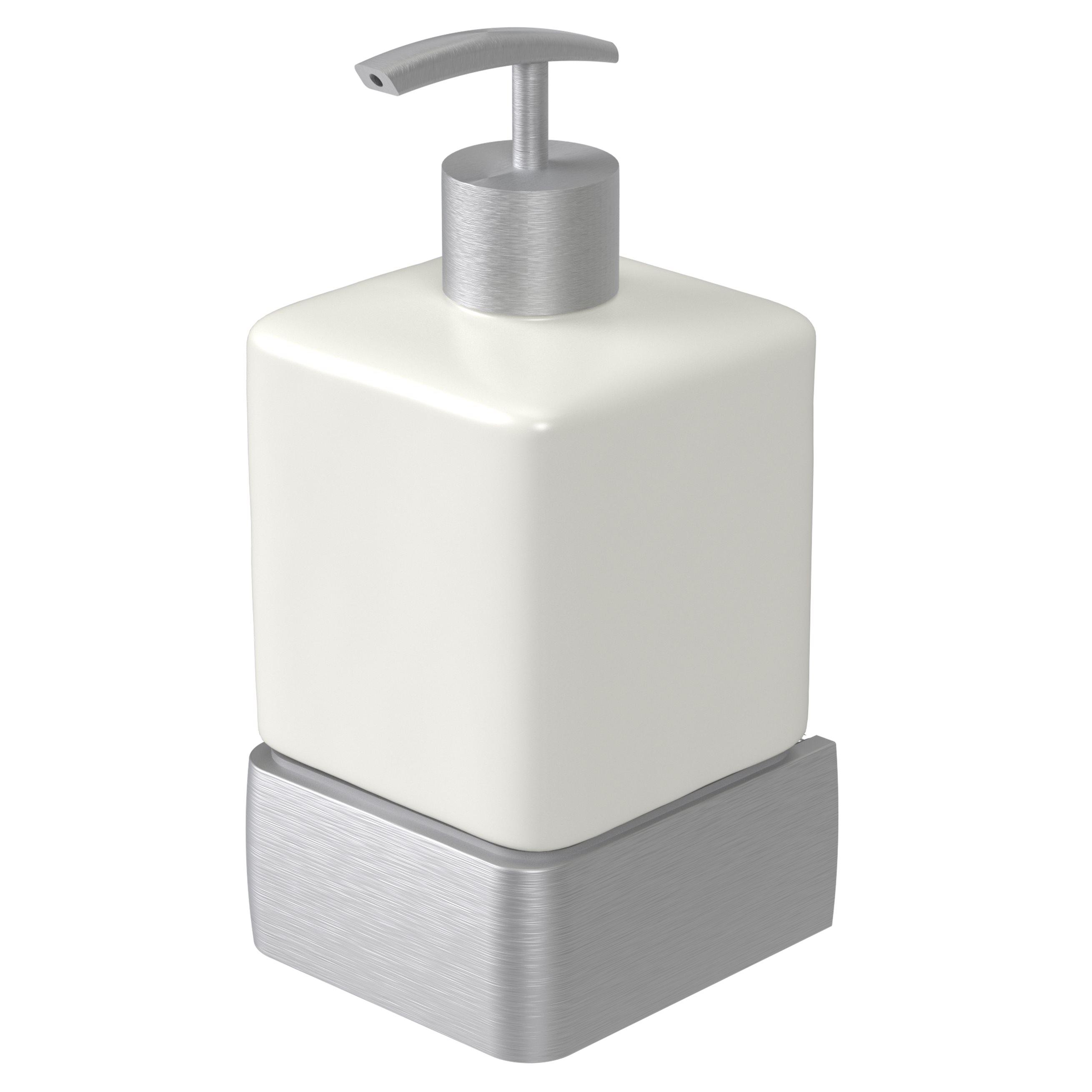 Haceka Aline zeepdispenser geborsteld aluminium