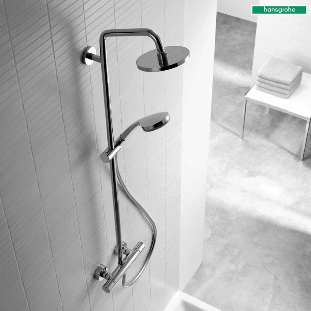 Hansgrohe Croma 160 showerpipe: m. Ecostat Comfort douchekraan thermostatisch HOH=15cm m. 100 Vario