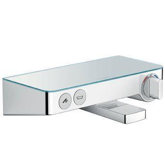 Hansgrohe Select 300 Showertablet opbouw badkraan thermostatisch HOH=15cm m. koppelingen chroom