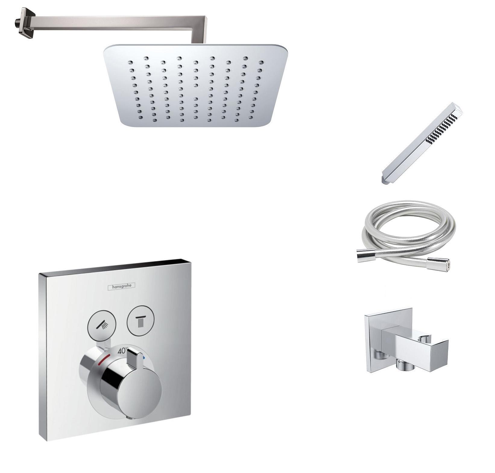 Hansgrohe Shower Select inbouw doucheset met 20cm douchekop en wandarm chroom