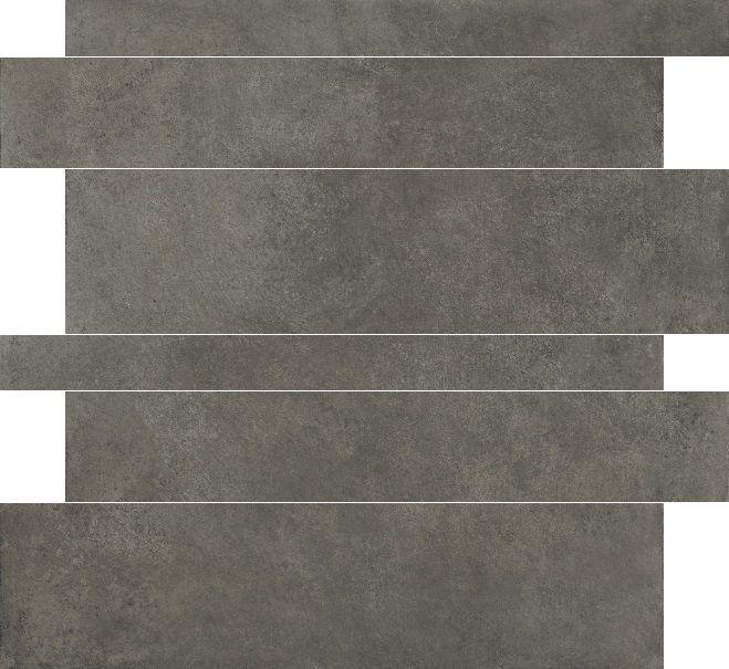 Herberia Timeless Antraciet 5x10x15x60 rett tegelstroken