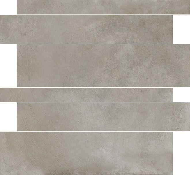 Herberia Timeless Silver 5x10x15x60 rett tegelstroken