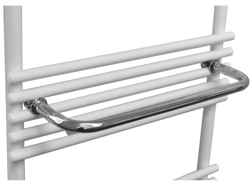Sanicare handdoekbeugel chroom 35 cm voor design radiatoren