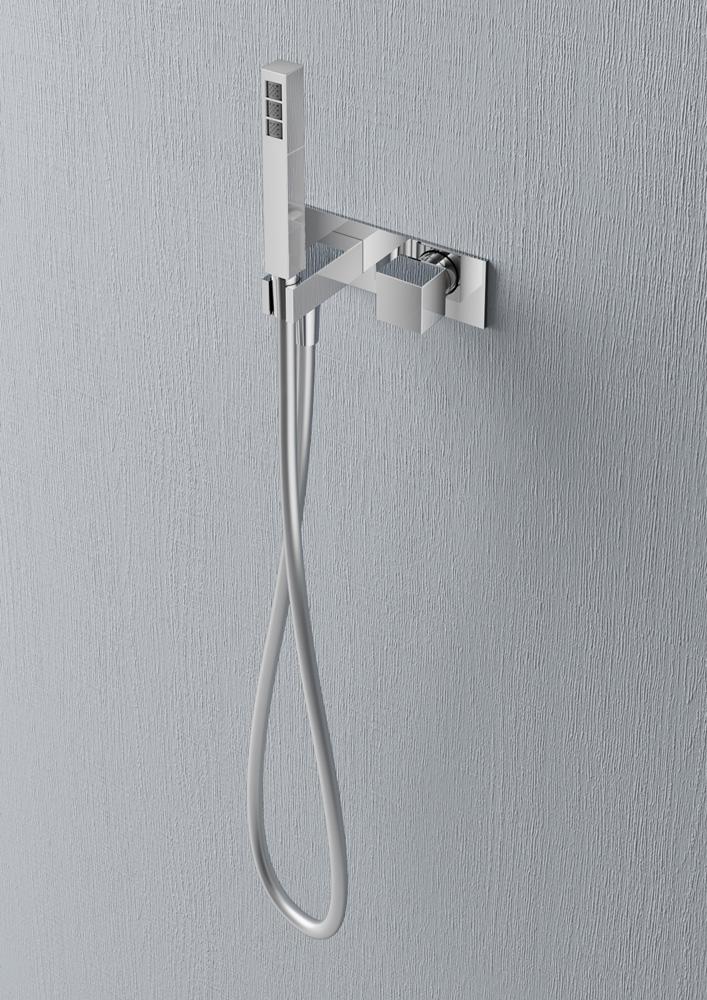 Hotbath Bloke inbouw stopkraan met handdouche chroom