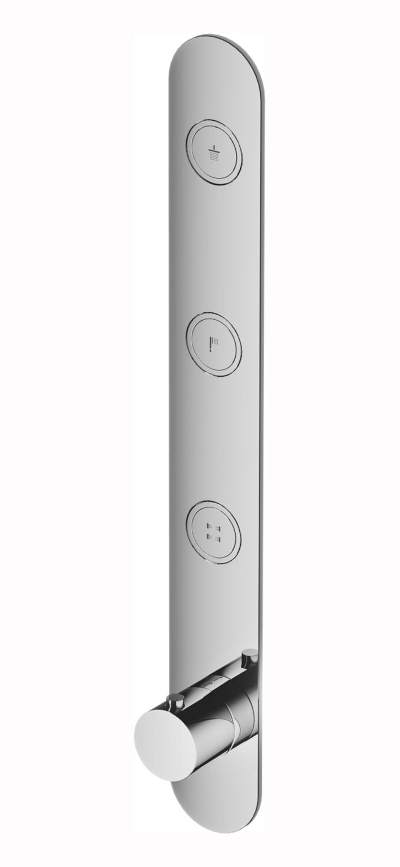 Hotbath Cobber Afbouwdeel thermostaat Verticaal met 3 pushbuttons Verouderd Ijzer PB050