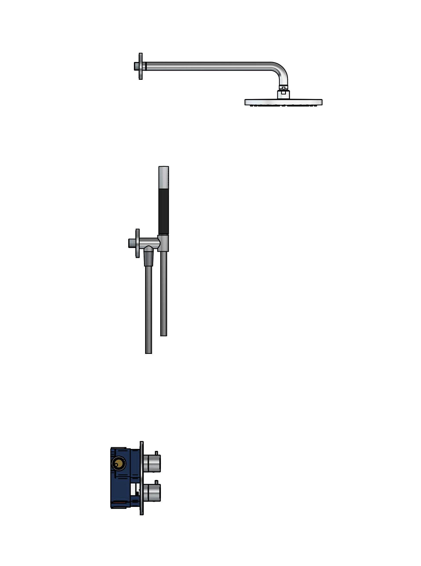 Hotbath Cobber Complete Thermostatische Douche Inbouwset Chroom IBS20A
