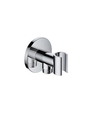 Hotbath Cobber Wandsteun met doucheaansluiting Zwart Mat M515