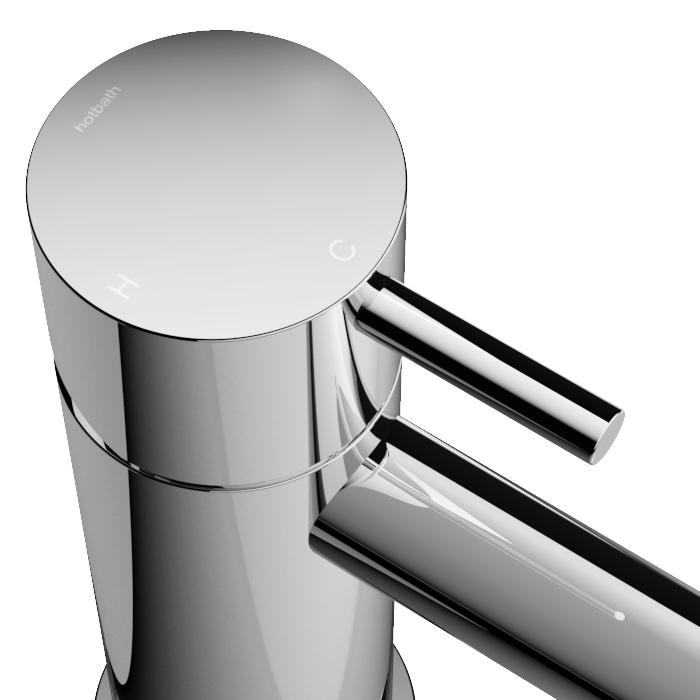 Hotbath Cobber Wastafelkraan Gepolijst Messing PVD CB003C