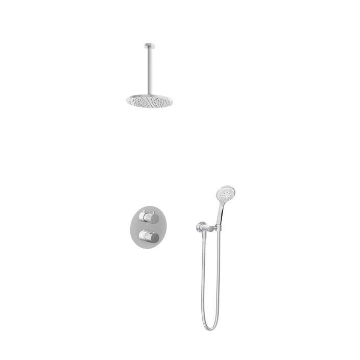 Hotbath Get Together IBS1A inbouw regendouche met 3s handdouche en 30cm plafondarm chroom