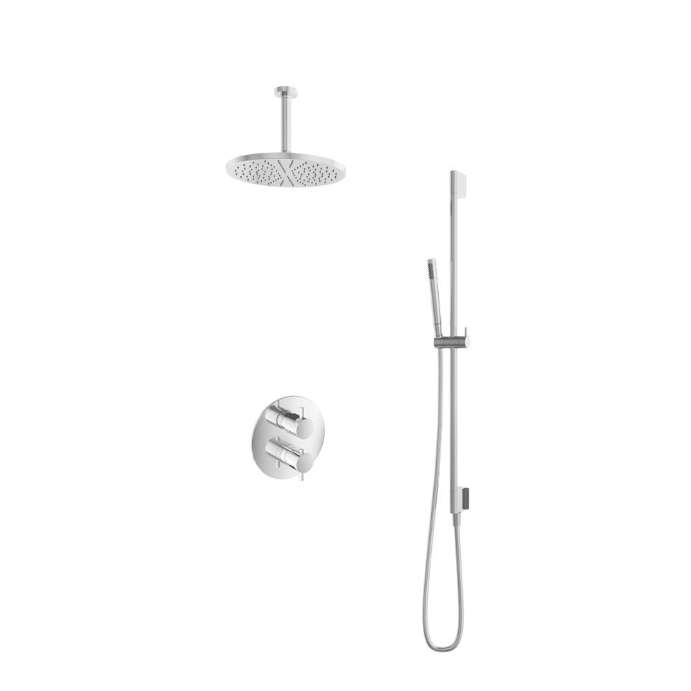 Hotbath Get Together IBS2RACR inbouwdouche met 15cm plafondbuis, 30cm hoofddouche en glijstang chroo