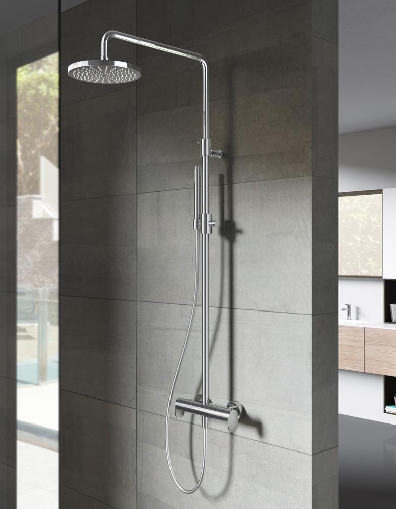 Hotbath Get Together SDS8CR opbouw regendouche met 3s handdouche en 25cm hoofddouche chroom