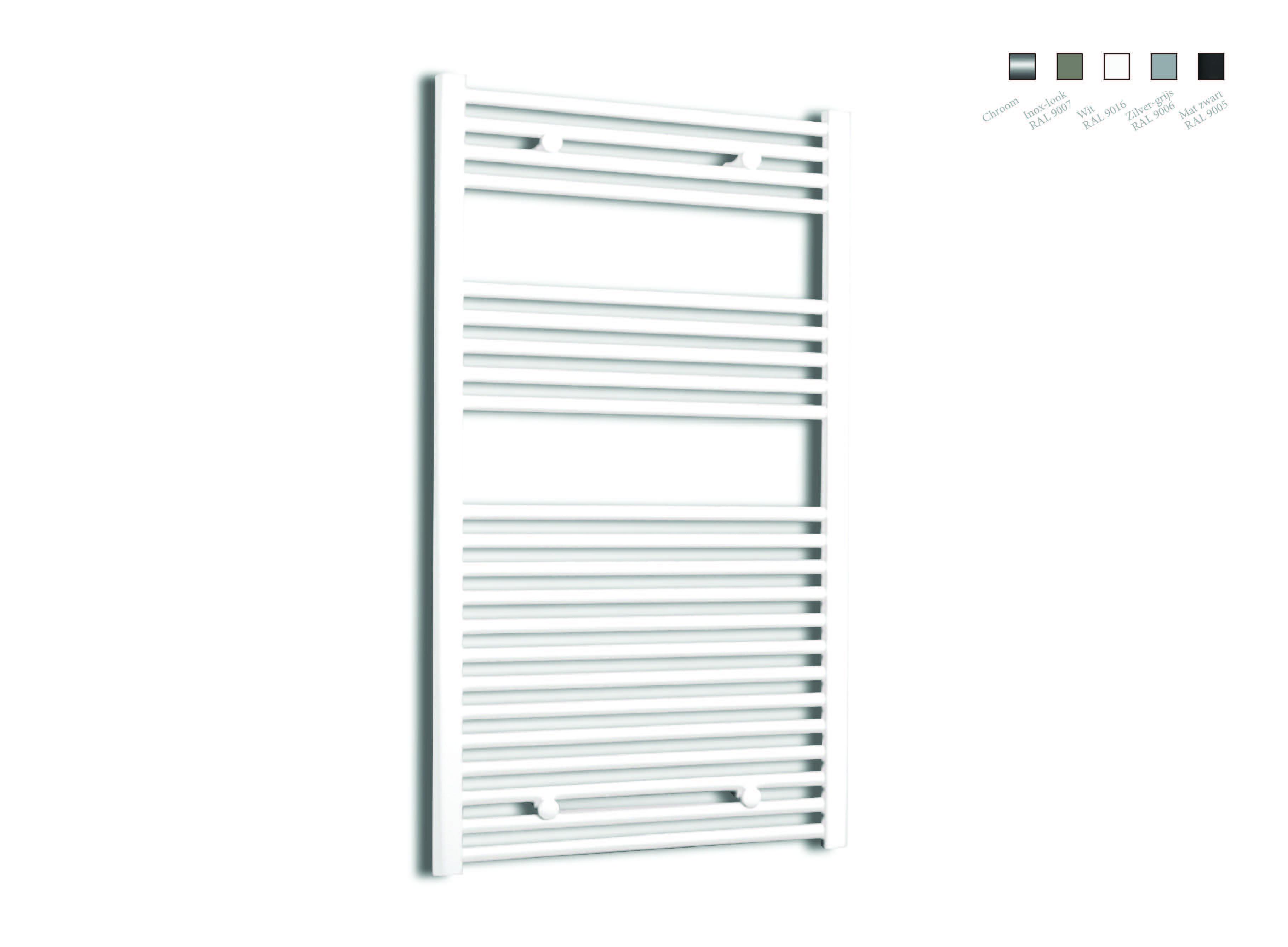 Sanicare design radiator recht 111,8 x 60 cm. wit
