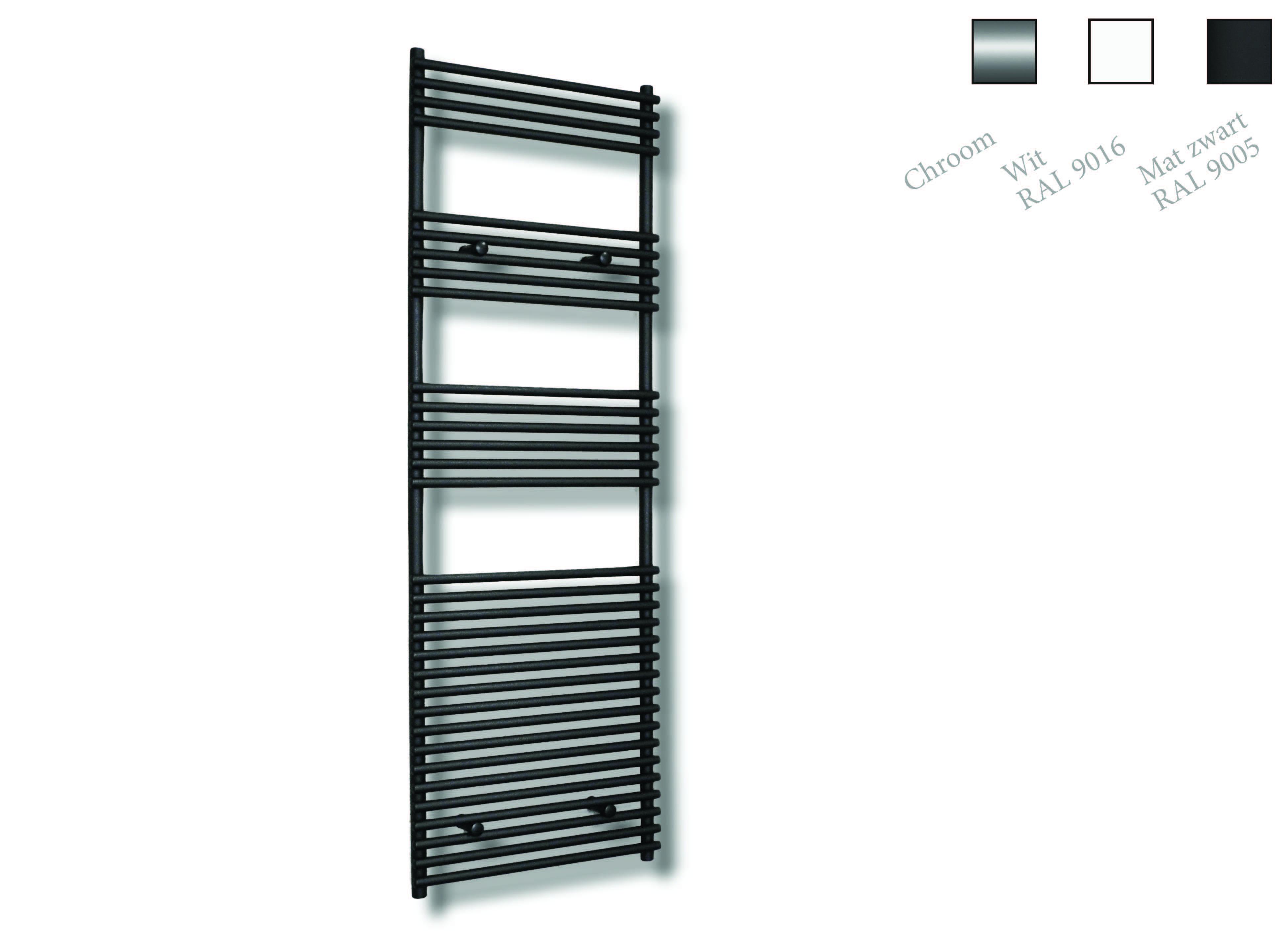 Sanicare design radiator Tube-On-Tube 180 x 60 cm. mat zwart