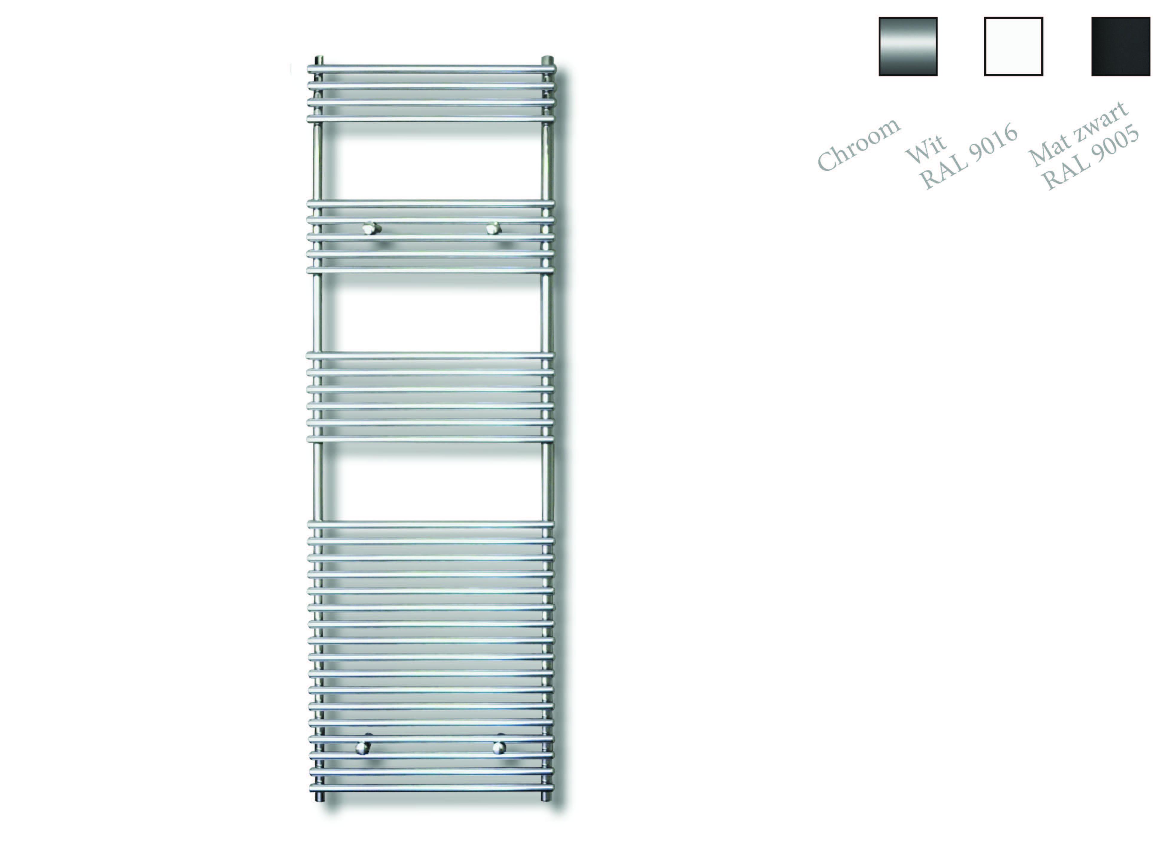 Sanicare design radiator Tube-On-Tube 180 x 60 cm. chroom