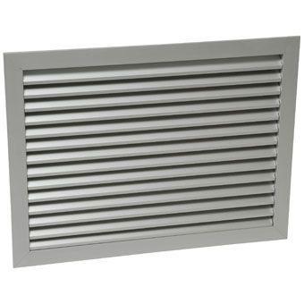 inspectie- en ventilatierooster met frame 40x30cm gean. aluminium