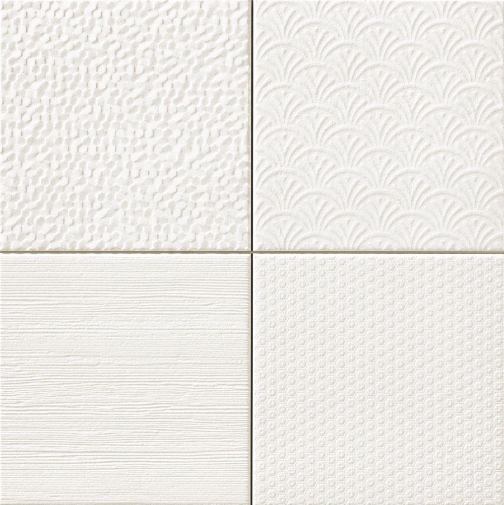 Jabo Glint wandtegel blanco 44.2x44.2