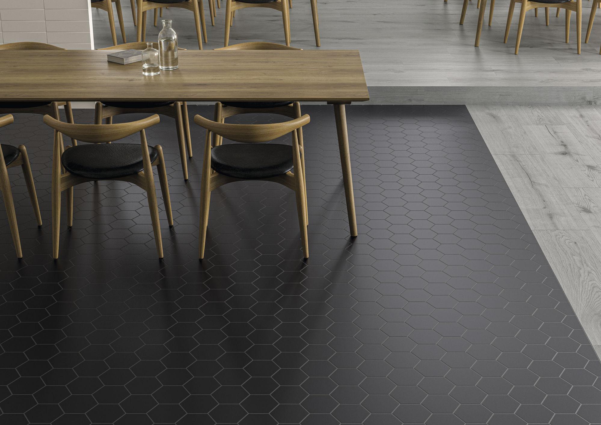 Jabo Hexagon Timeless vloertegel black 15x17