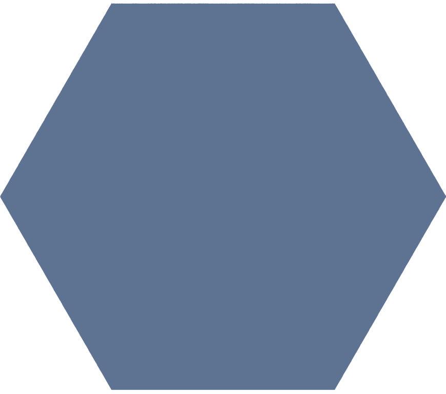 Jabo Hexagon Timeless vloertegel marine 15x17