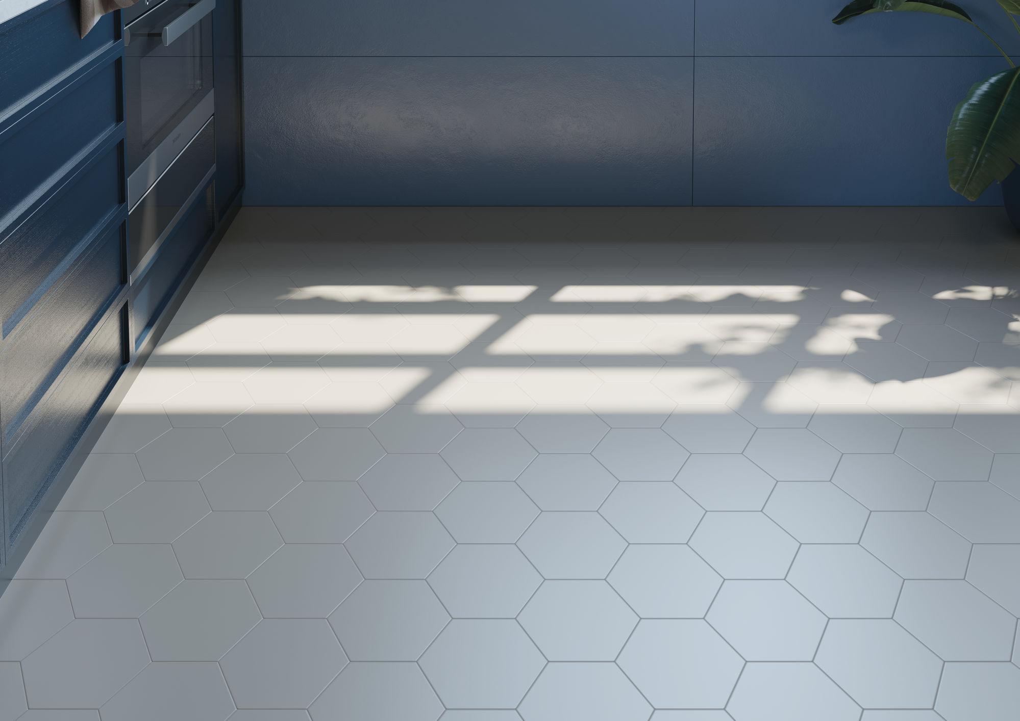 Jabo Hexagon Timeless vloertegel white 15x17