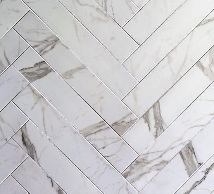 Jabo Statuario tegelstroken mat 10x60 gerectificeerd