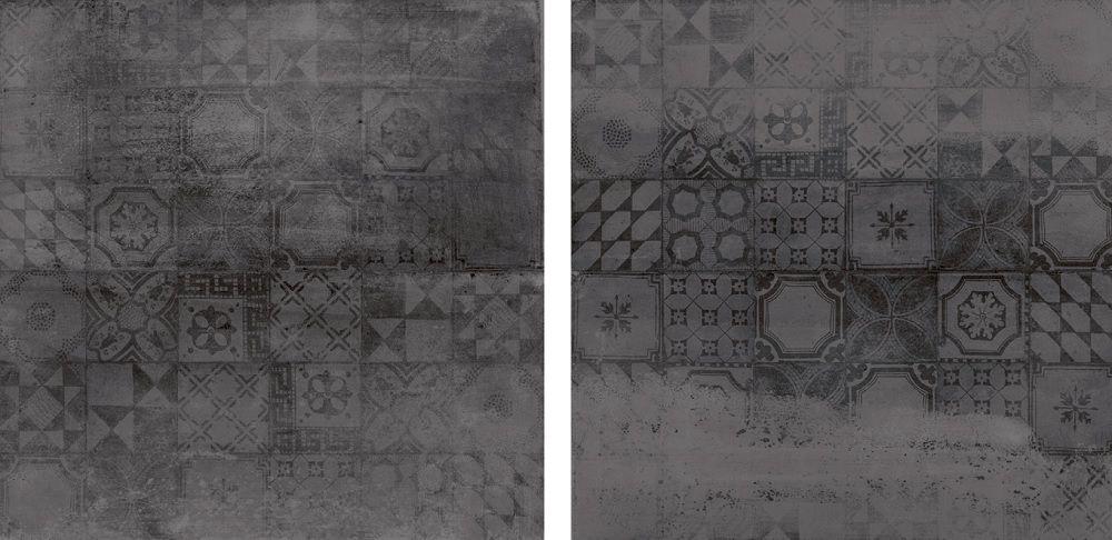Jabo Vloertegels Concrete Antraciet Decor 60x60
