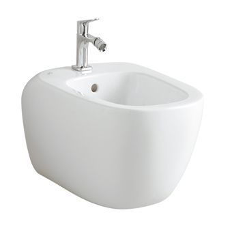 Keramag Citterio wandbidet m. overloop m. keraTect wit