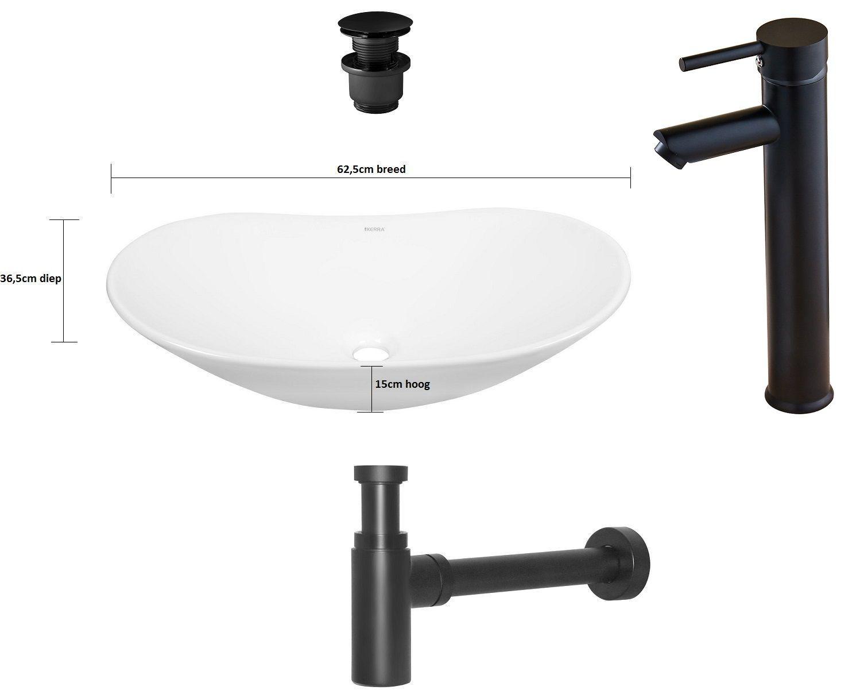 Kraan Badkamer Zwart : Badkamer accessoires kerra joker zwart waskom kr 781 set met kraan