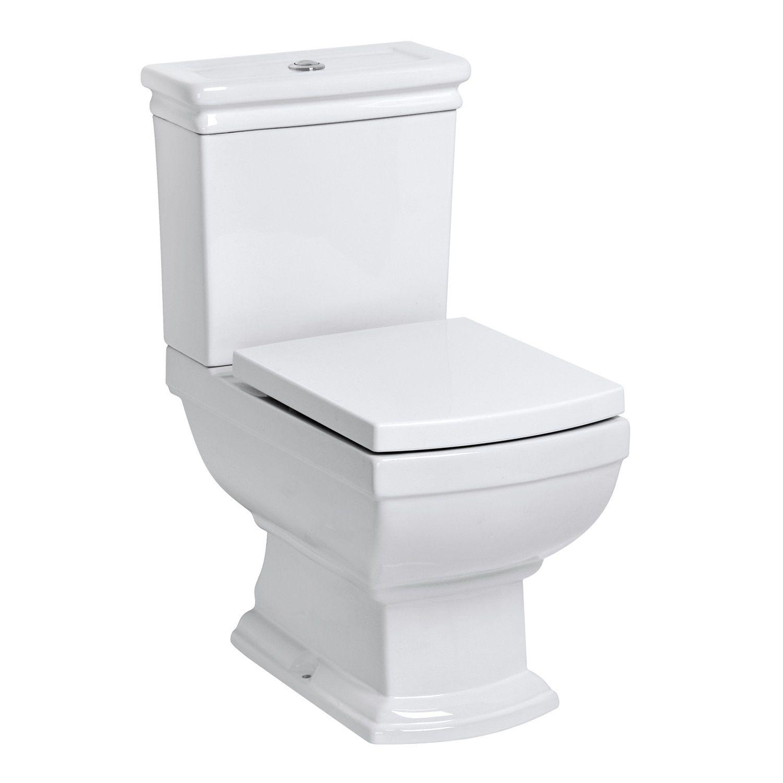 Kerra Kleopatra duoblok toilet 41x65cm wit