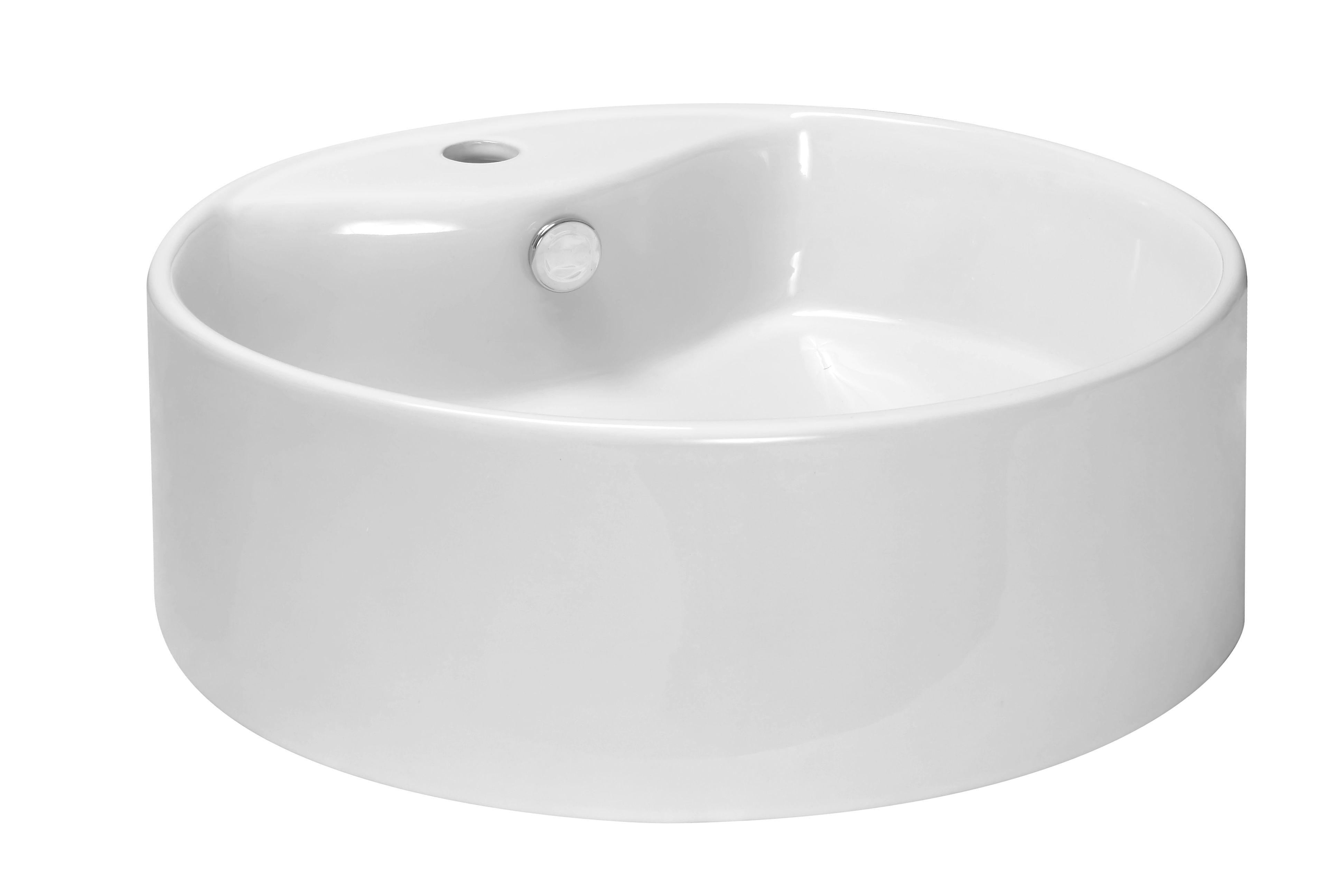 Badkamer Wasbak Opbouw : Badkamer accessoires kerra kr 138 opbouw waskom 46cm wit met kraangat