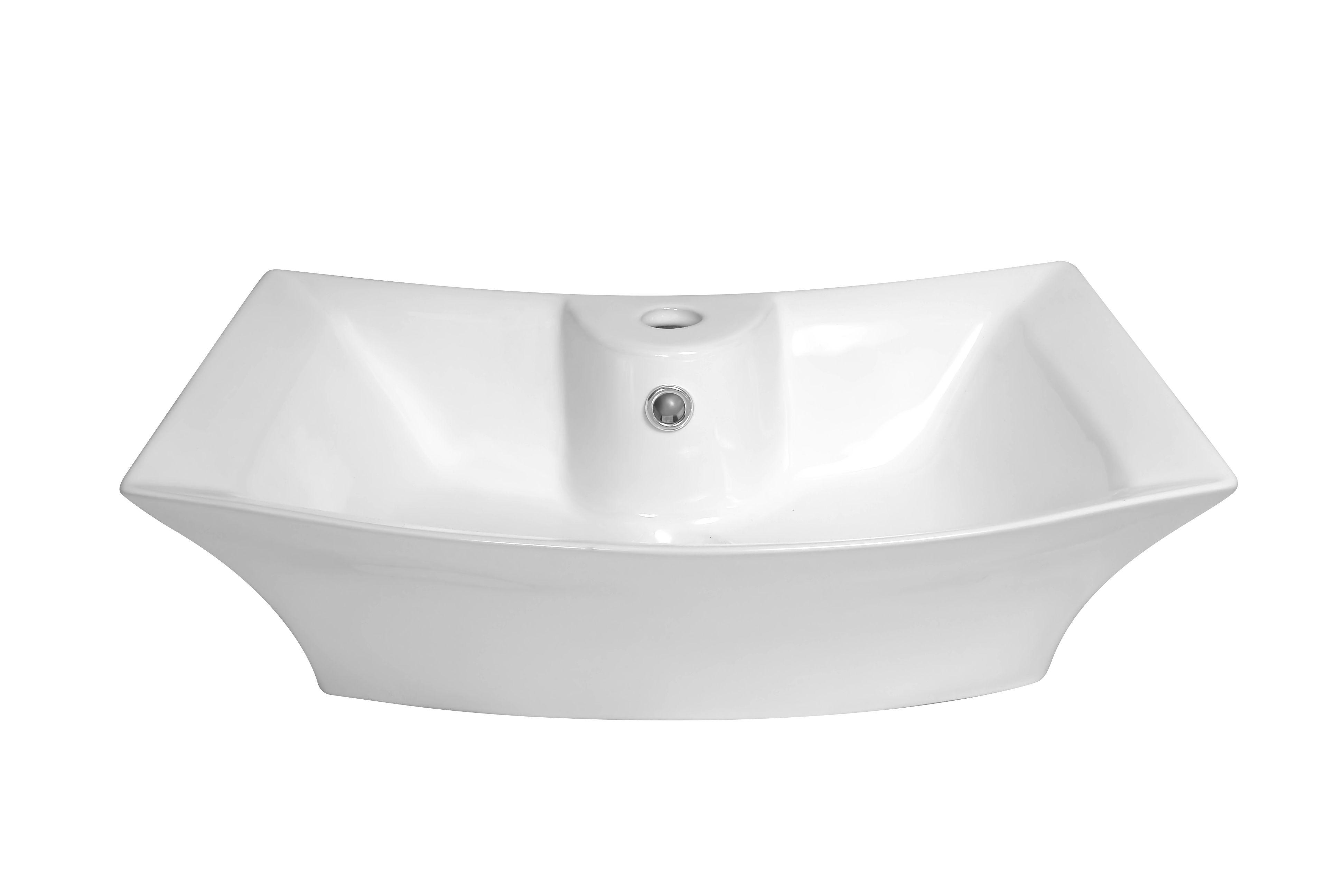Kerra KR 221 opbouw waskom met kraangat 60x43,5cm wit
