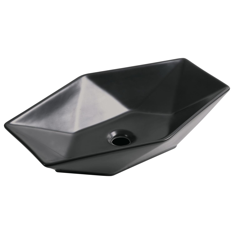 Kerra KR 570 BLM waskom zeshoek 58x37cm zwart