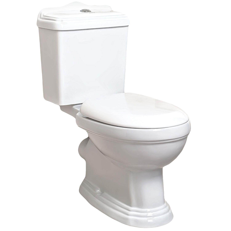 Kerra Retro duoblok toilet staand met reservoir en zitting