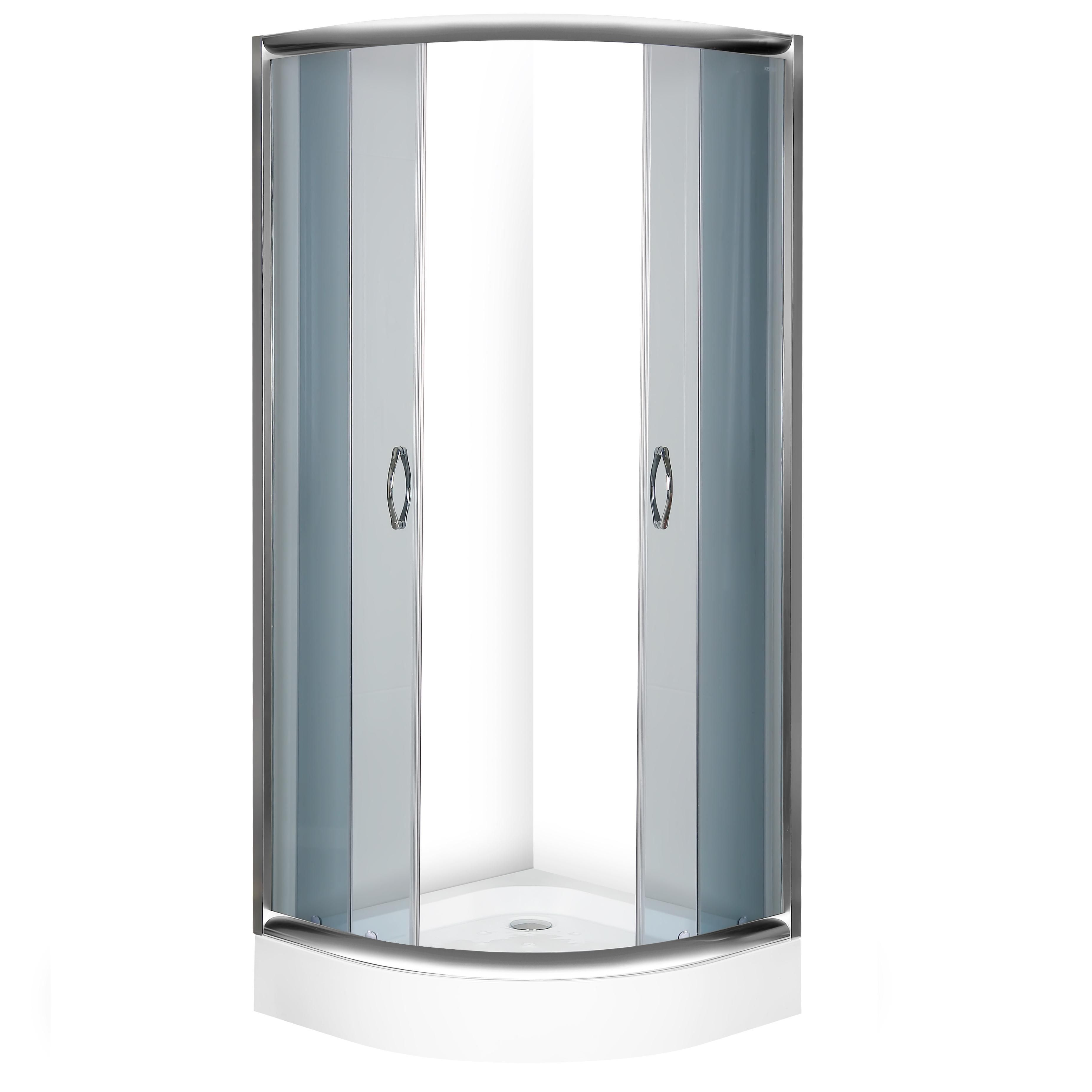Kerra Elsa douchecabine grijsglas kwartrond 80x80cm inclusief douchebak
