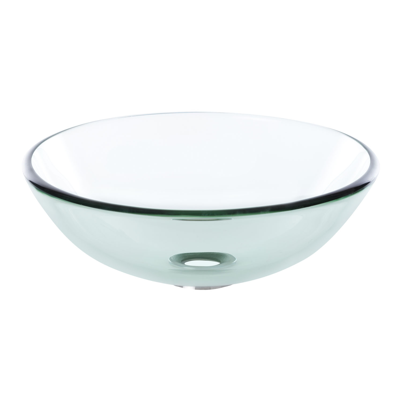 Kerra Megan opbouw wastafel waskom gehard glas