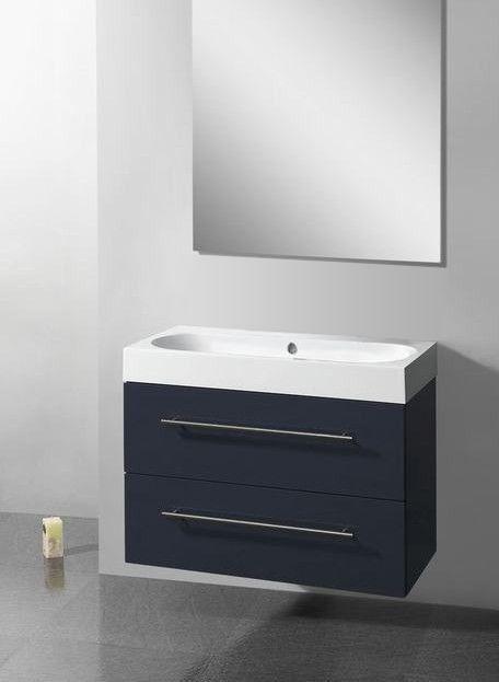 Lambini Designs Compact Line badkamermeubel hoogglans antraciet 100cm, 0 kraangaten