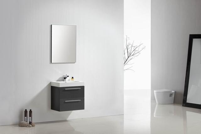 Lambini Designs Compact Line badkamermeubel hoogglans antraciet 60cm