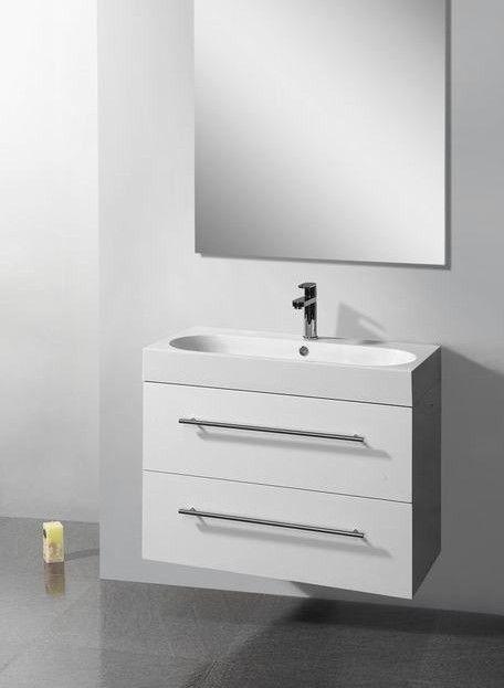 Lambini Designs Compact Line badkamermeubel hoogglans wit 100cm, 1 kraangat