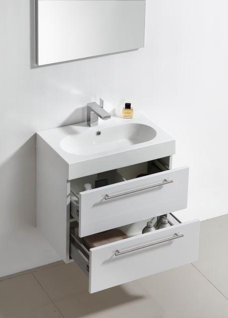 Lambini Designs Compact Line badkamermeubel hoogglans wit 60cm