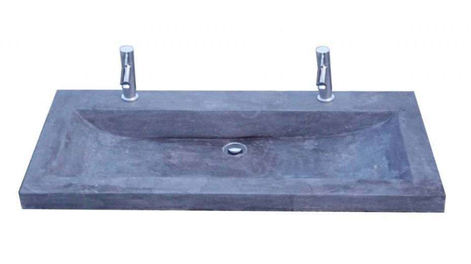 Lambini Designs compact stone meubelwastafel 100cm 2 kraangaten