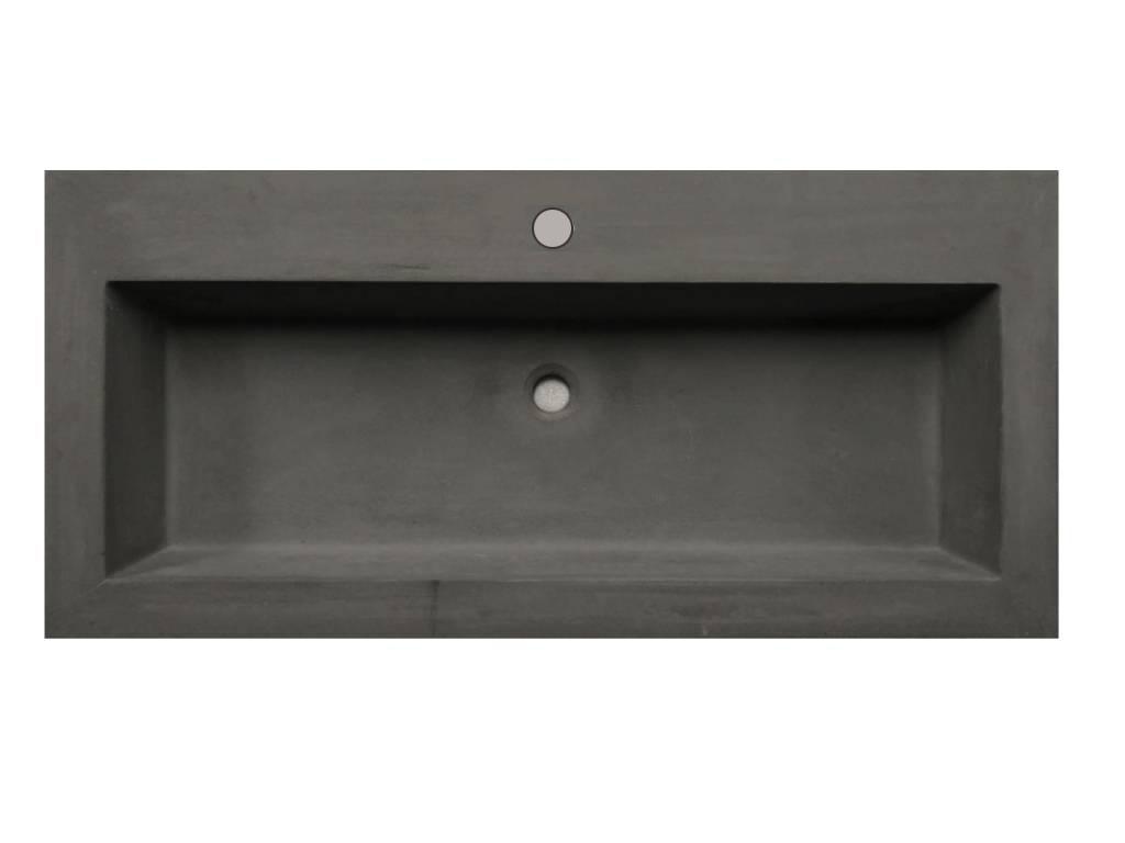 Lambini Designs Concrete meubelwastafel 100cm 1 kraangat betongrijs